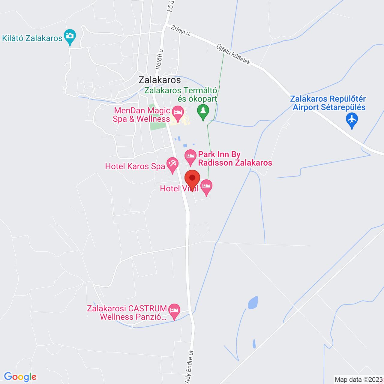 Mapa Hotel Aquatherm*** Zalakaros