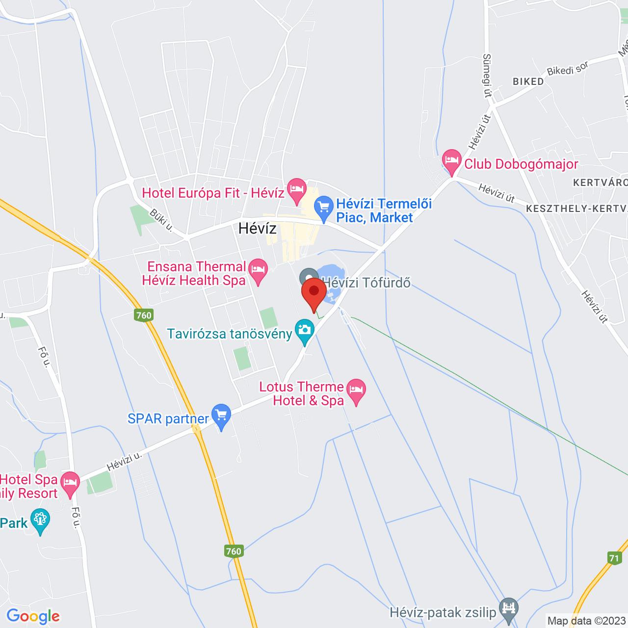 Mapa Hotel Spa Hévíz**** Hévíz