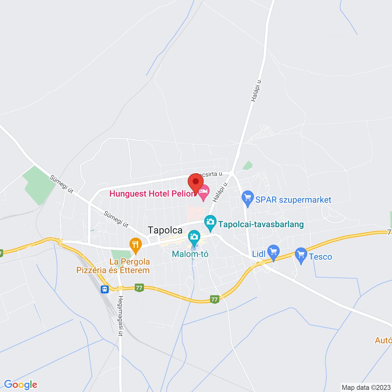 Mapa Hunguest Hotel Pelion**** Tapolca