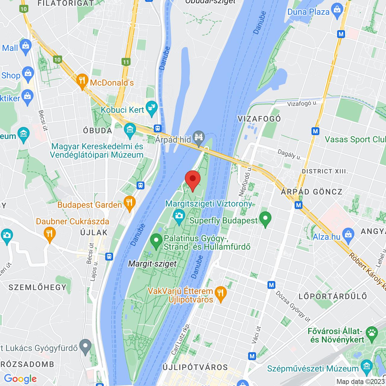 Mapa Ensana Health Spa Hotel Grand Margitsziget**** Budapešť
