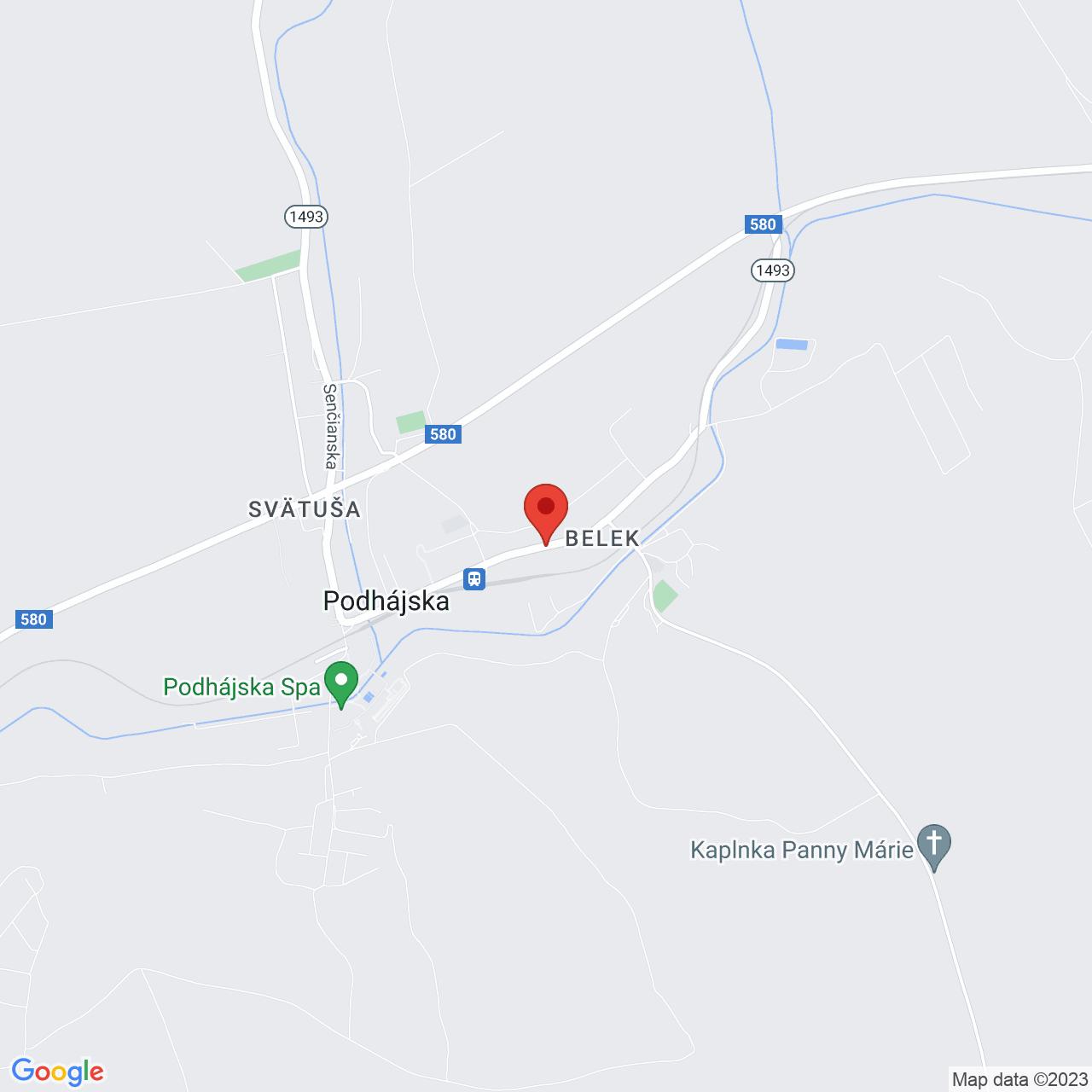 Mapa Penzión Max** Podhájska