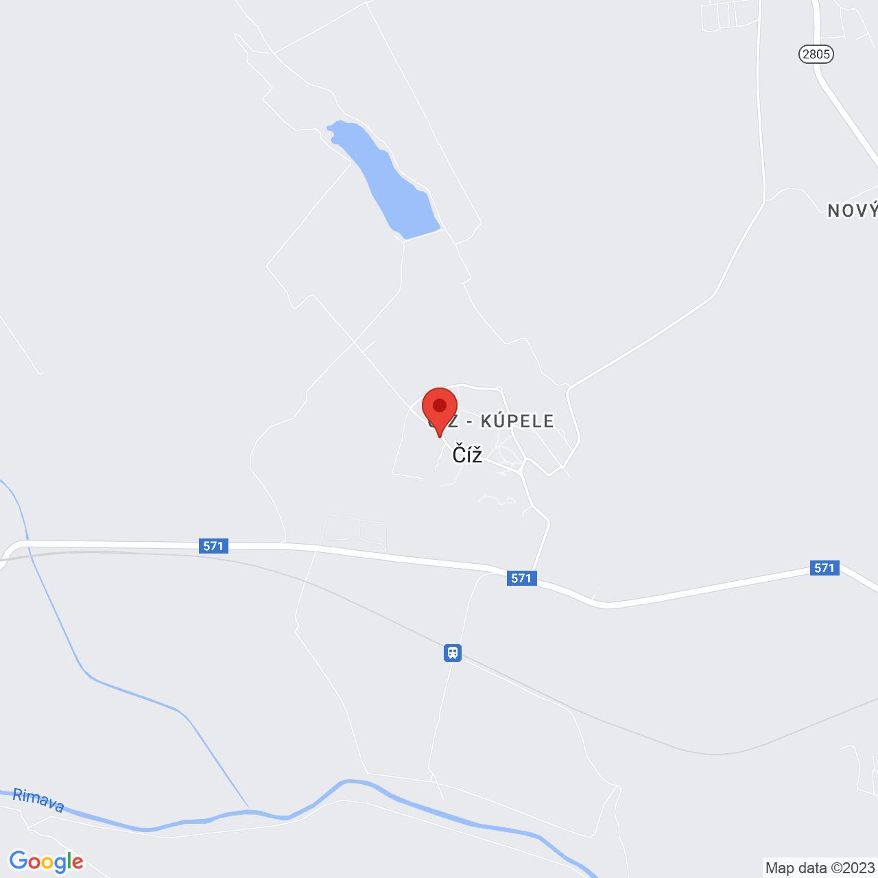 Mapa Liečebný dom Mária** Číž