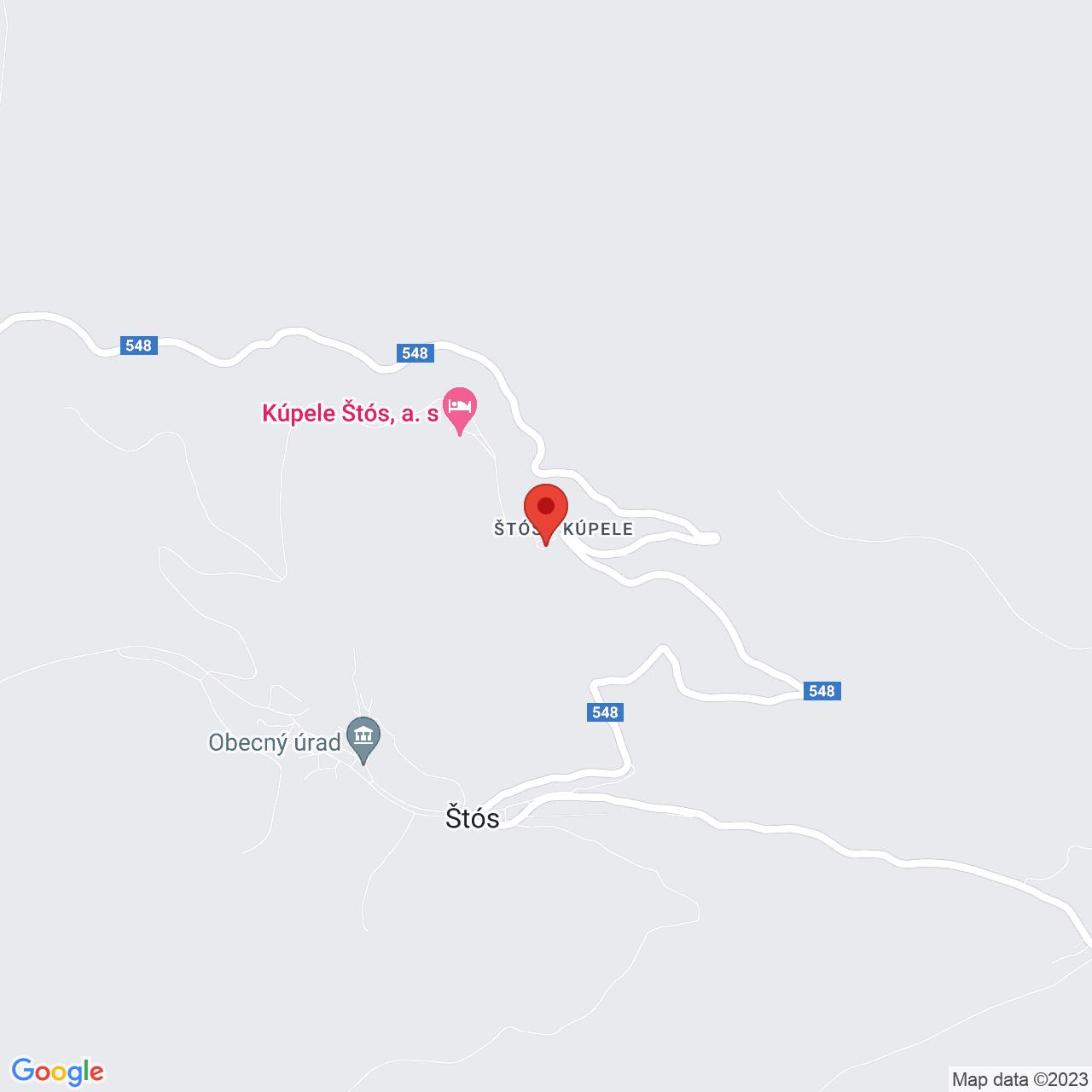 Mapa Liečebný dom Hlavná budova - Komporday** Štós