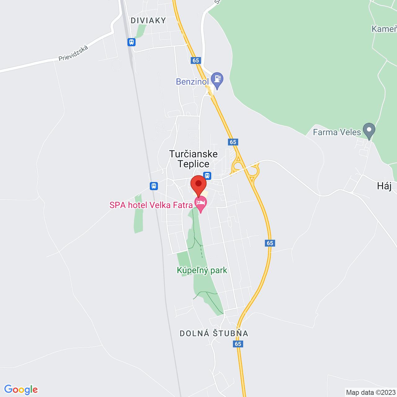 Mapa Liečebný dom Aqua** Turčianske Teplice