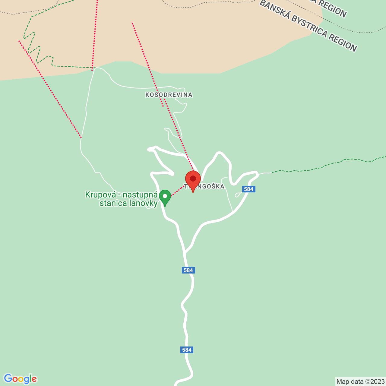 Mapa Horský Hotel Srdiečko*** Tále / Bystrá