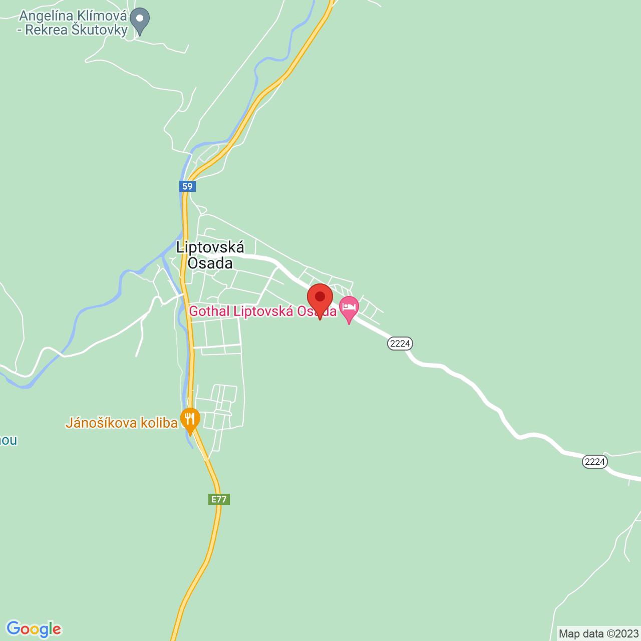 Mapa Rezort Gothal Liptovská Osada