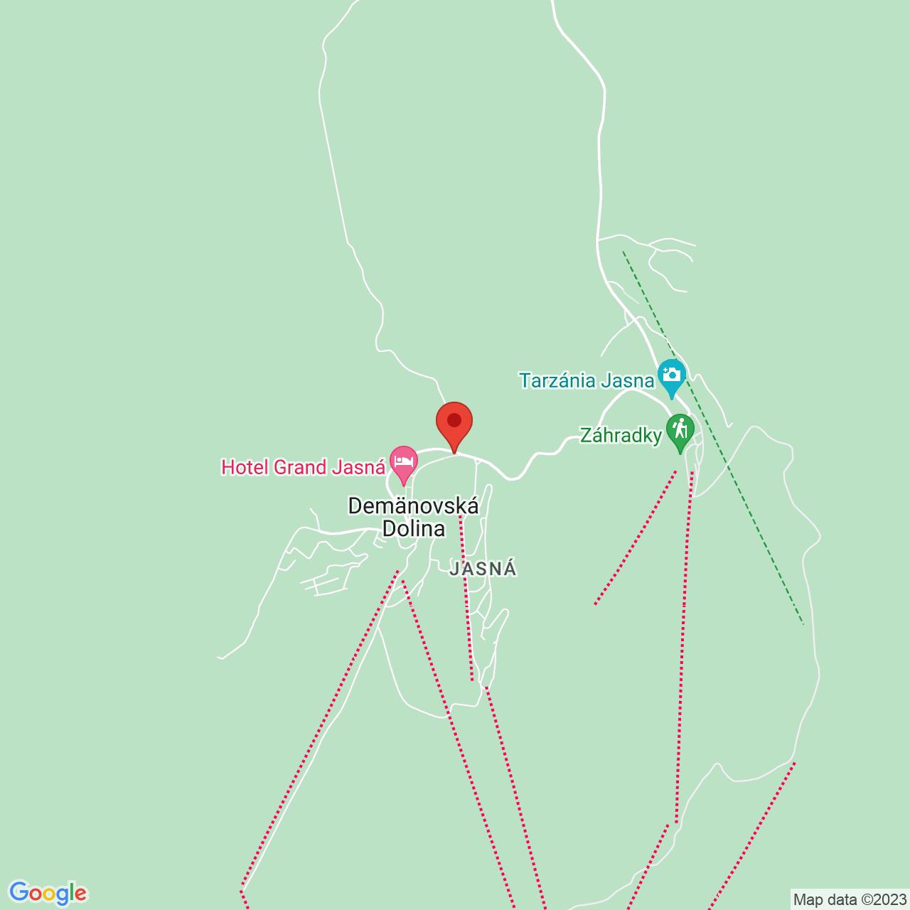 Mapa Hotel Ostredok*** Demänovská dolina/Jasná