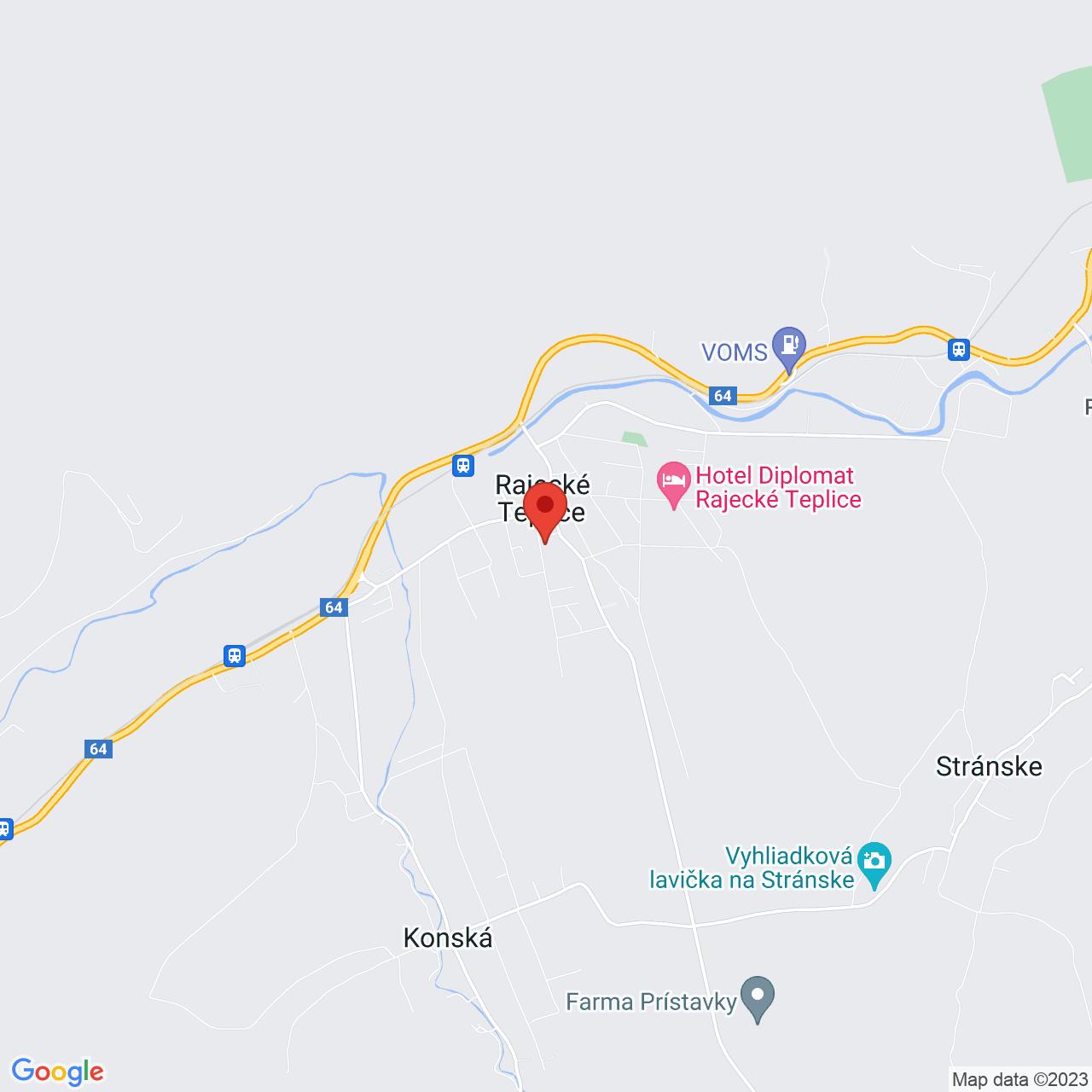 Mapa Villa Margaréta*** Rajecké Teplice