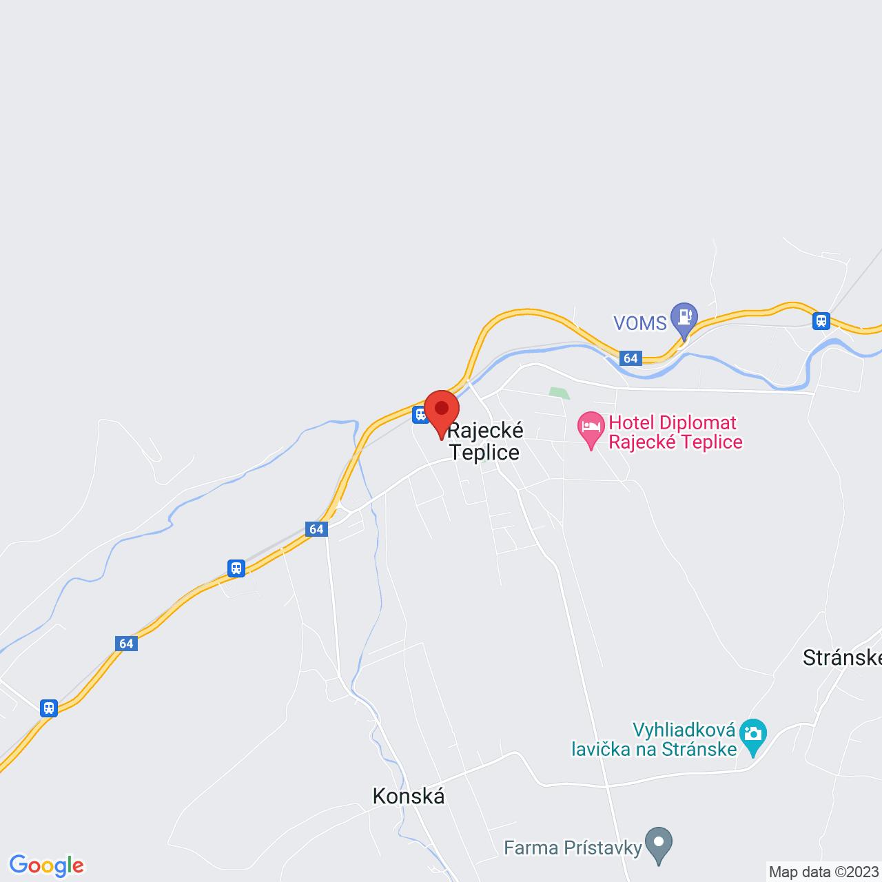 Mapa Kúpeľný Hotel Malá Fatra*** Rajecké Teplice