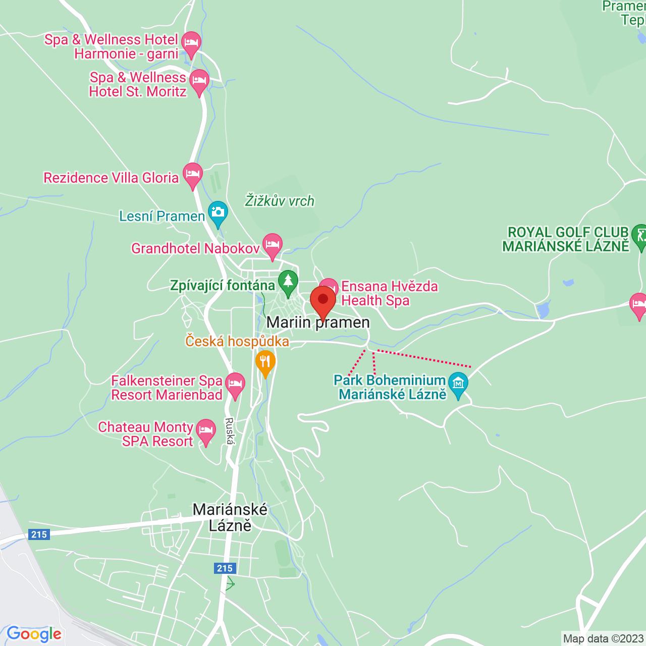 Mapa Maria Ensana Health Spa Hotel**** Mariánske Lázně