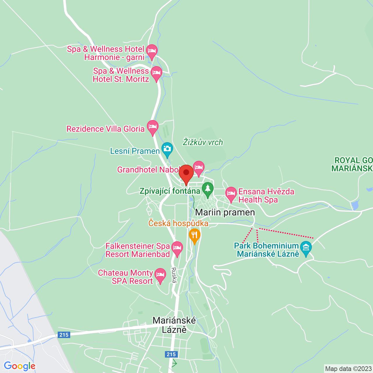 Mapa OREA Hotel Palace Zvon**** Mariánske Lázně