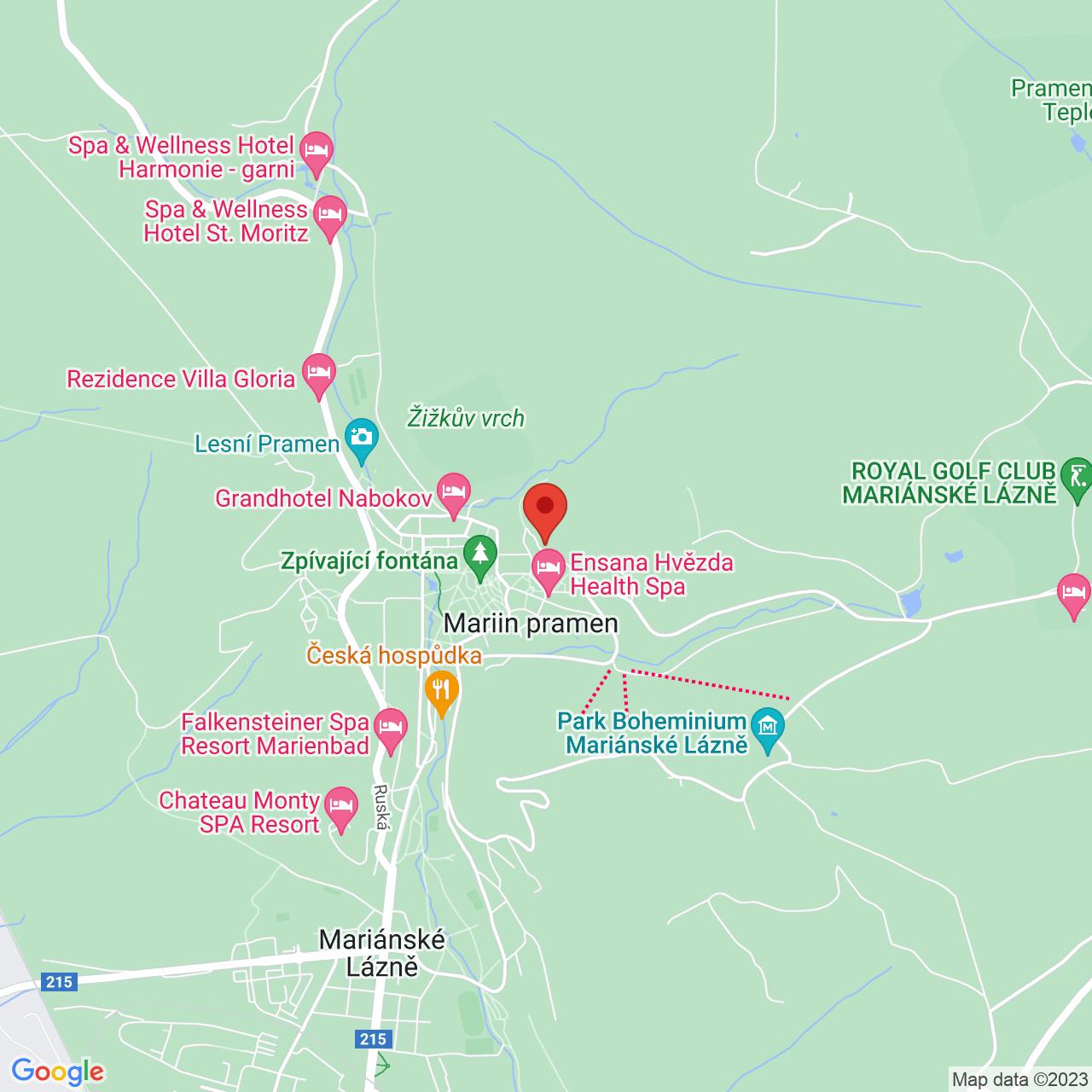 Mapa Liečebný dom Royal**** Mariánske Lázně