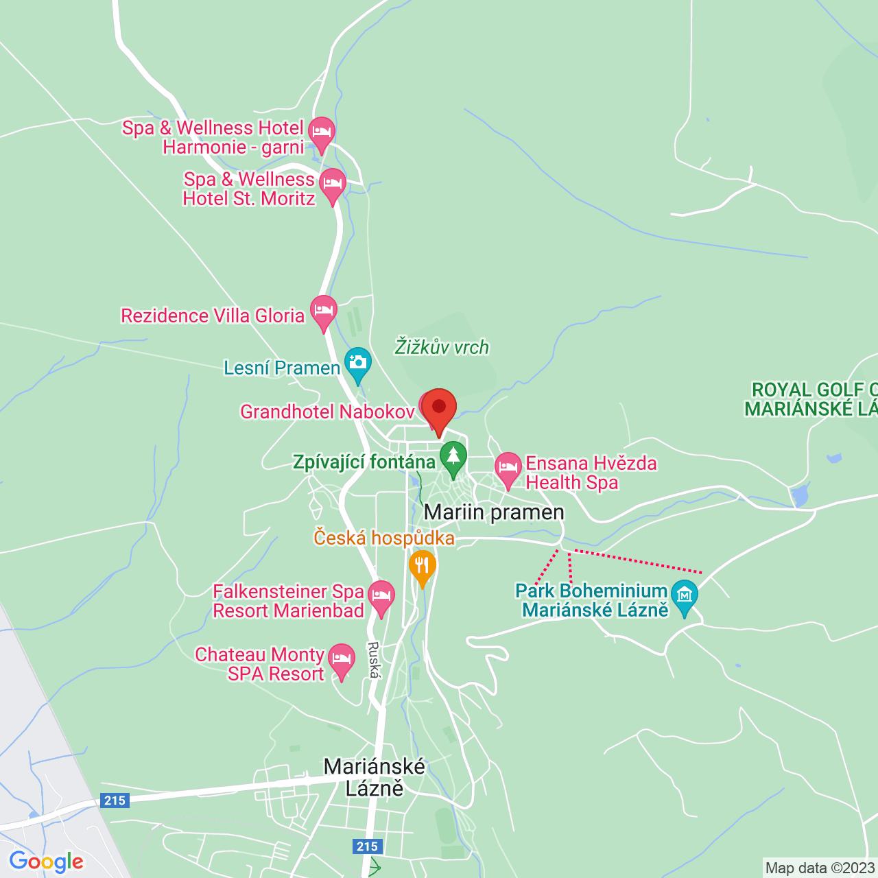 Mapa Hotel Flora*** Mariánske Lázně