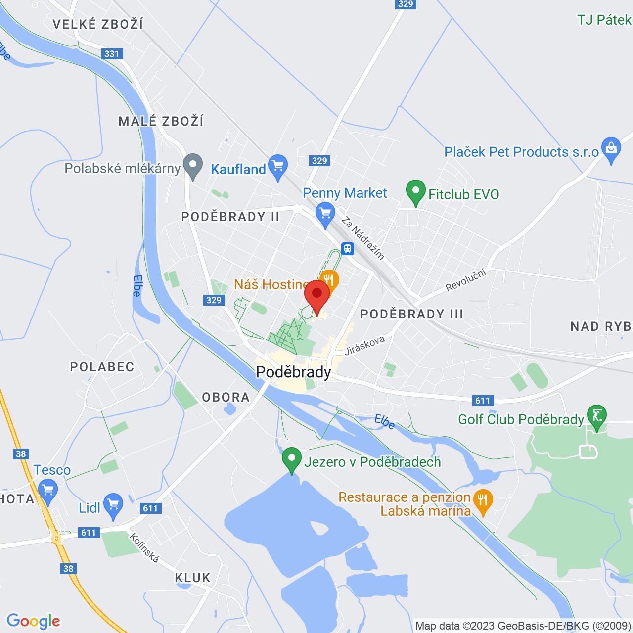 Mapa Kúpeľný Hotel Felicitas**** Poděbrady