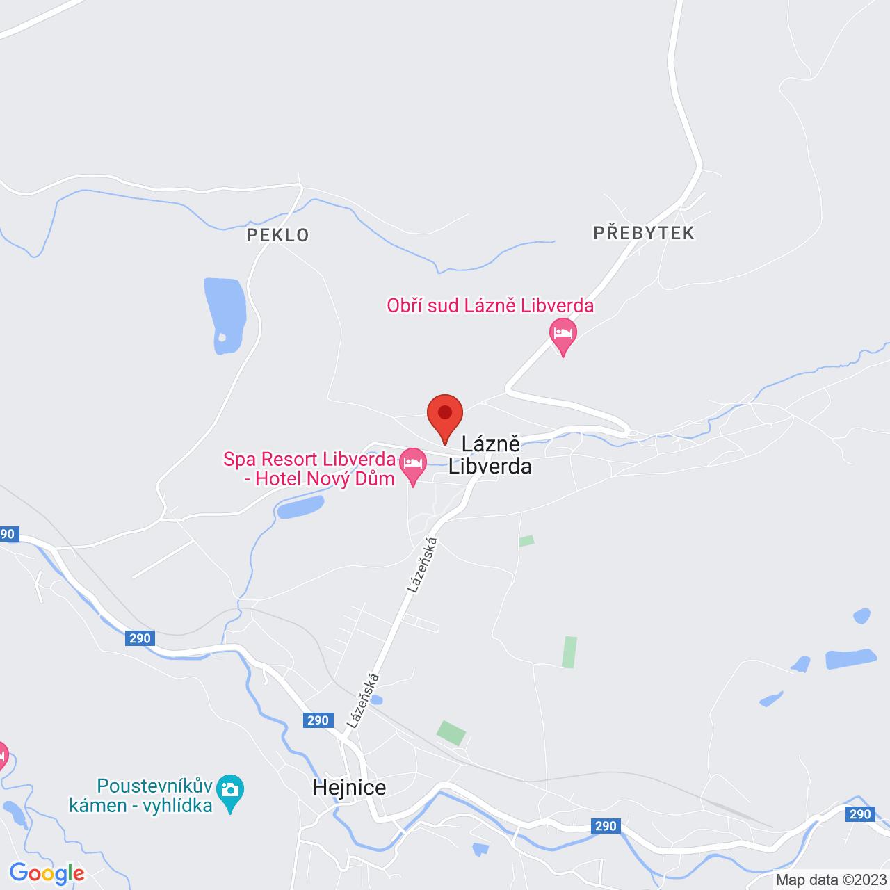 Mapa Hotel Lesní Zátiší*** Libverda