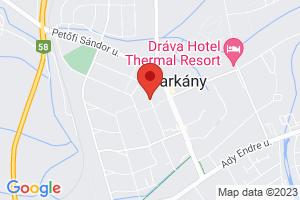 Mapa Hotel Ametiszt*** Harkány