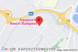 Térkép Hotel Aquaworld Resort**** Budapest