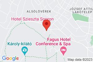 Mapa Hotel Szieszta*** Šoproň/Sopron