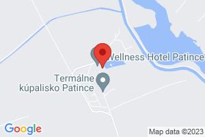 Mapa Wellness Hotel Patince**** Patince