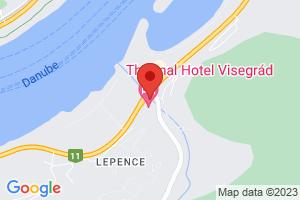 Mapa Thermal Hotel Visegrád Superior**** Visegrád