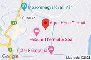 Mapa Hotel Termal Aqua*** Mosonmagyaróvár