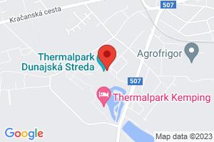 Mapa Hotel Thermalpark*** Dunajská Streda