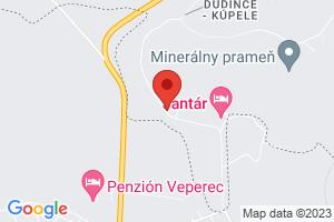 Mapa Hotel Flóra** Dudince