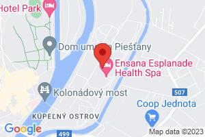 Mapa Kúpeľný Hotel Danubius Health Spa Resort Palace**** Piešťany
