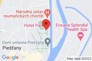 Mapa Wellness hotel Park**** Piešťany