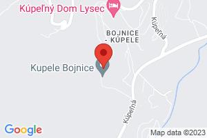 Mapa Liečebný dom Gabriela Bojnice