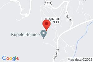 Mapa Liečebný dom Ploska Bojnice