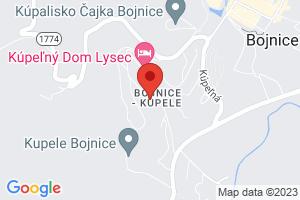 Mapa Liečebný dom Lux Bojnice