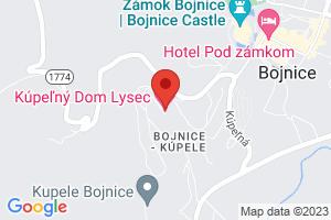 Mapa Liečebný dom Lysec Bojnice