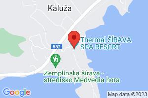 Mapa Thermal Šírava Spa Resort**** Zemplínska Šírava