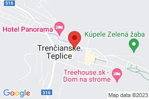 Mapa Liečebný dom Krym*** Trenčianske Teplice