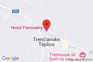 Mapa Wellness Hotel Panorama**** Trenčianske Teplice