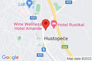 Mapa Wine Wellness Hotel Amande**** Hustopeče