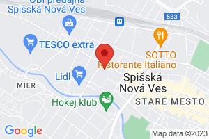 Mapa Hotel Metropol**** Spišská Nová Ves