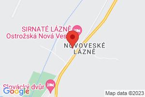 Mapa Liečebný dom Hlavná budova*** Ostrožská Nová Ves