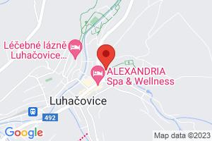 Mapa Lázeňský hotel Palace**** Luhačovice