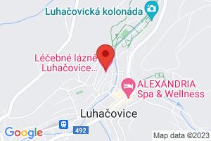 Mapa Kúpeľný Hotel Miramare**** Luhačovice