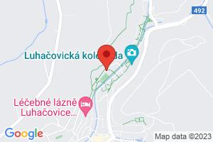 Mapa Villa Pod Lipami Superior*** Luhačovice