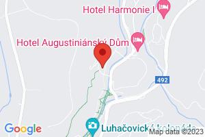 Mapa Lázeňský hotel Vila Antoaneta**** Luhačovice