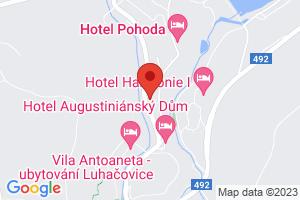 Mapa Hotel Garni Jestřabí*** Luhačovice