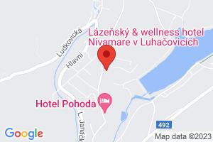 Mapa Lázeňský & wellness hotel Niva II.**** Luhačovice