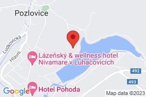 Mapa Hotel Adamantino*** Luhačovice