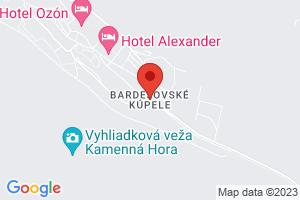 Map Hotel Alexander**** Bardejov