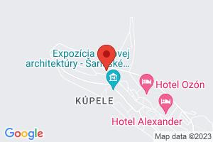 Mapa Kúpeľný Hotel Astória*** Bardejov