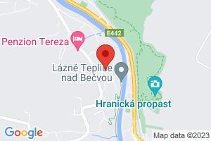 Mapa Dom uzdrowiskowy Praha*** Teplice nad Becvou
