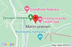 Mapa Centrální lázně Ensana Health Spa Hotel**** Marianske Lazne